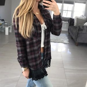 Forever 21 Plaid Lace